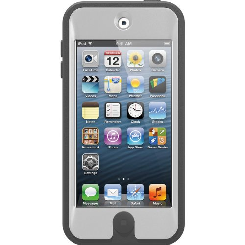 OtterBox Defender Series iPod Touch Case for iPod Touch 5th Generation, Retail Packaging (White/Grey)
