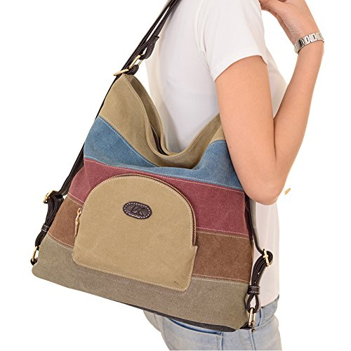 Khaki PB Tote Khaki Bag Women's Fashion Canvas Handbag Backpack Bag Bag Multifunctional SOAR Shoulder OwOSq7fB