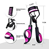 Kaasage Eyelash Curler With advanced Silicone Pressure Pad & Fits All Eye Shapes Get the Perfect Curl (Black)