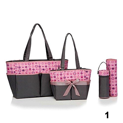 Colorland 6PC Baby Diapper Bag Set Large Capasity Shoulder M