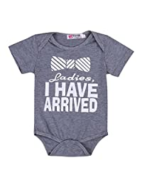 Newborn Ladies I Have Arrived Baby Boys Funny Rompers Bodysuits Outfits