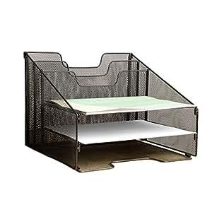 malla de metal vanra archivador de escritorio organizador organizar escritorio ajustable con 3. Black Bedroom Furniture Sets. Home Design Ideas