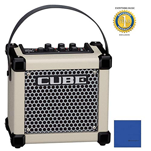 Roland MICRO CUBE GX   Micro Cube Battery Powered Guitar Amplifier White