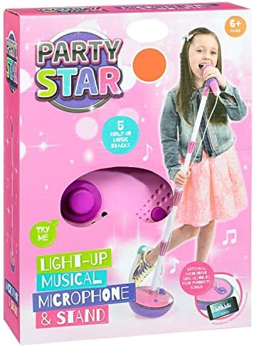 Multi-Color Bontempi 40 4071 Stage Microphone I Girl with Sound Effects and MP3 Connection