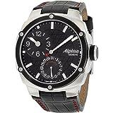 Reloj Alpina Alpiner Black Dial correa de cuero para hombre AL950LBBB4AE6A