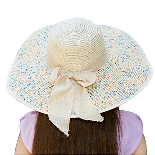 ネクタイうれしいレールサンハットベージュ色の折りたたみ帽子ビーチ帽子の女性のための旅行ハット