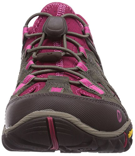 Merrell Womens All Out Fiammata Setaccio Scarpa Acqua Masso / Fucsia