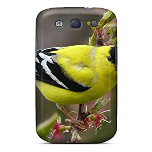 linJUN FENGKaPVlAl8113iQRpC Tpu Case Skin Protector For Galaxy S3 Beautiful American Goldfinch With Nice Appearance