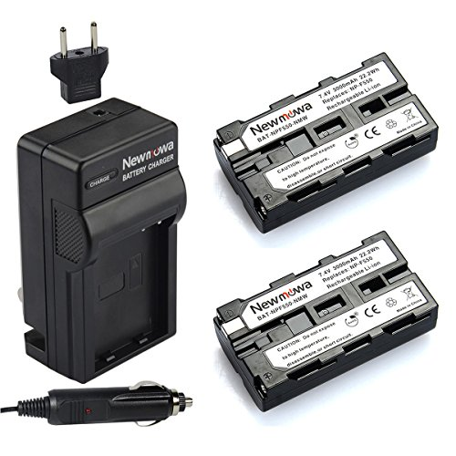 Newmowa NP-F550 Replacement Battery (2-Pack) and Charger kit for Sony NP-F330,F550,F570 and Sony CCD-SC55,TR516,TR716,TR818,TR910,TR917 Camera