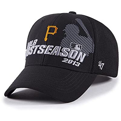 '47 Brand Pittsburgh Pirates 2013 Playoffs Locker Room Grand Slam Adjustable Hat - Black