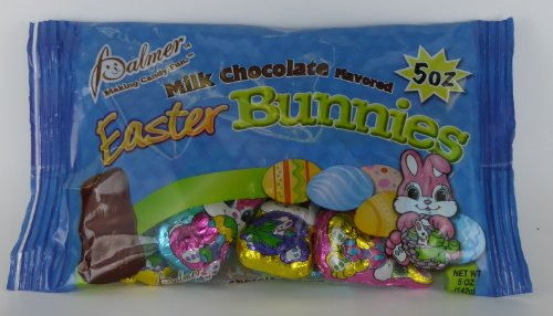 Easter Bunny Milk Chocolate Candy,5 oz .individually foil wrapped Bunnies