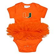 Two Feet Ahead NCAA Miami Hurricanes Infant Tutu Creeper, New Born, Orange/Orange