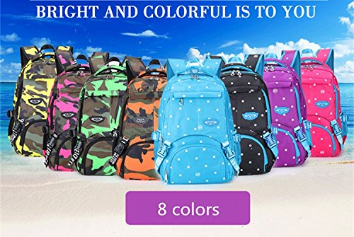 Amazon.com: Camouflage Dot Colorful Unique Printing Bookbag Women Oxford Waterproof Child Backpack Large Capacity Schoolbag For Girls Black: Sports & ...