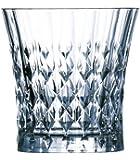 Cristal d'Arques, Lady Diamond Whisky 270ml, sans repère de remplissage, 6 Verres