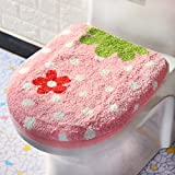 Toilet cushion,Luxury toilet seat cover 2 Pack set (Lid cover & Tank cover) Bathroom super warm soft comfy -B