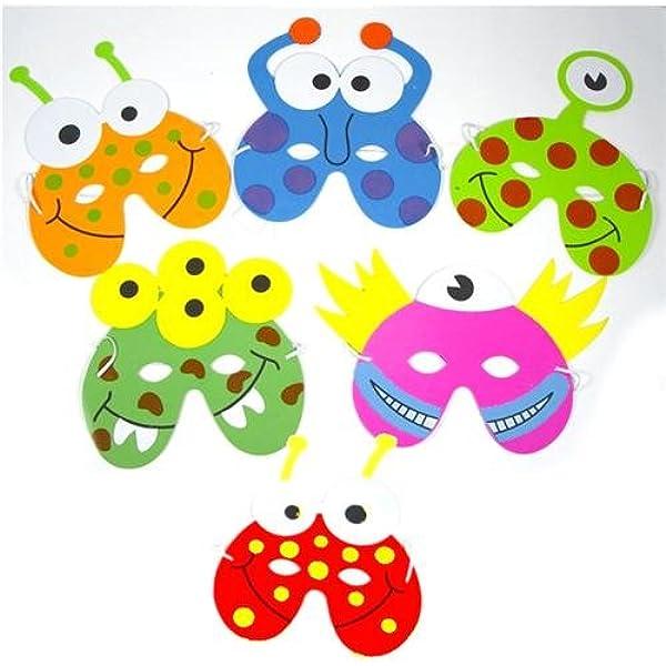 1 x Pack of 6 Monster/Alien EVA Foam Masks: Amazon.es: Electrónica