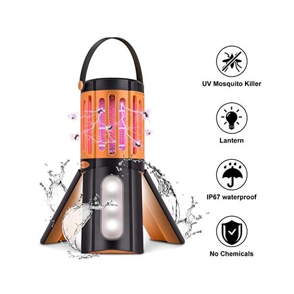seenlast Lampada Antizanzara Elettrica, 2-in-1 Zanzariera All'aperto Luce UV Campeggio Repellente Trappola Zanzare… 1 spesavip