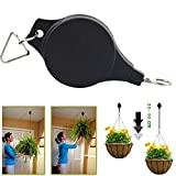 Set of Two Home and Garden Gadgets Easy Reach Plant Pulley Retractable Pulley Hanging Basket Pull Down Hanger Garden Baskets Pot
