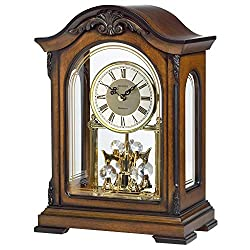 Bulova B1845 Durant Chiming Clock Walnut
