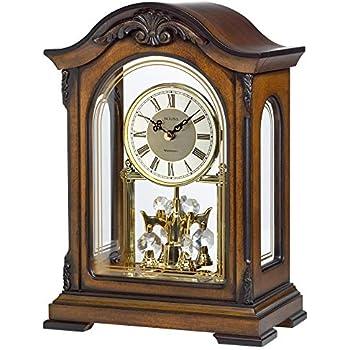 Bulova B1909 Abbeville Clock Walnut Finish USA SELLER