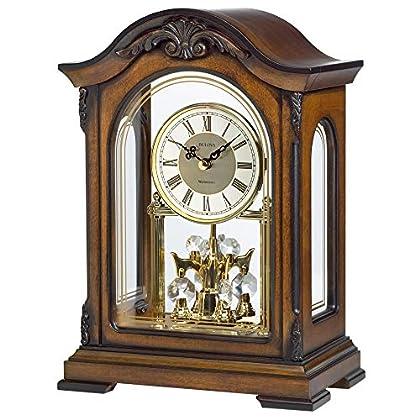 Image of Home and Kitchen Bulova B1845 Durant Chiming Clock, Walnut