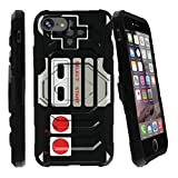 MINITURTLE Case Compatible w/ Hard iPhone 7 Case | iPhone 7s Phone Cover [Armor Reloade ] Shock iPhone 7 Case w/ Holster and Builtin Stand Game Controller Retro