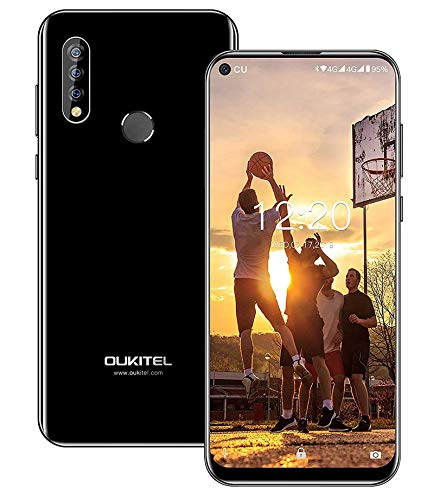"OUKITEL C17 Pro Unlocked Smartphones 64GB + 4GB RAM Android 9.0 6.35"" FullView Display 13MP+5MP+2MP Triple Cameras Face Fingerprint Recognition Global Dual 4G LTE GSM Unlocked Cell Phone (Black)"