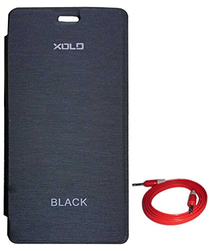 best website 5499e 2dbb8 RRTBZ Flip Cover Case for Xolo Black with AUX Cable: Amazon.in ...