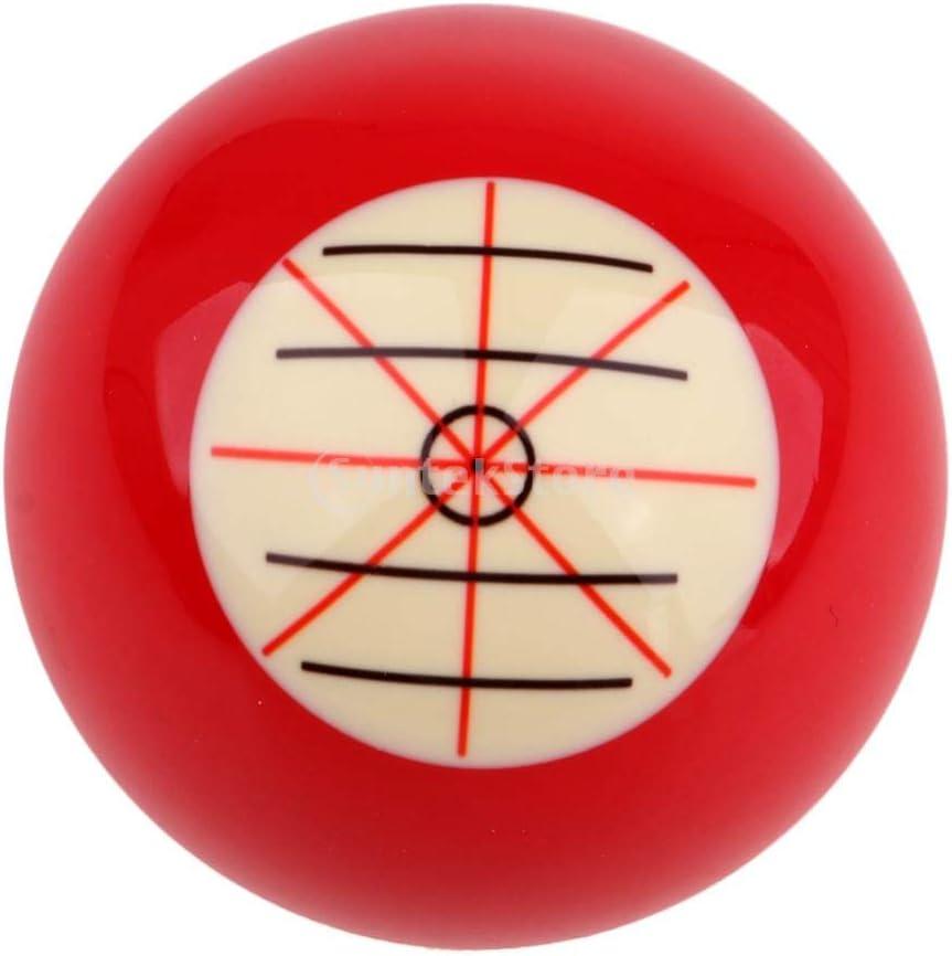 2-1//16  Couleur Blanc Rouge CUTICATE 2 pi/èces de Boules de Billard pour D/ébutants en Snooker 52mm