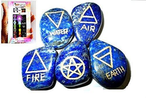 (Jet New Lapis Lazuli 5 Element Tumbled Stones Genuine Free Booklet Jet International Crystal Therapy IMAGE IS JUST A REFERENCE.)