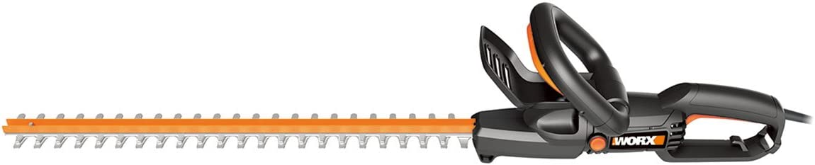WORX WG217 4.5 Amp 24 Rotating Head Electric Hedge Trimmer, 24 inches, Black