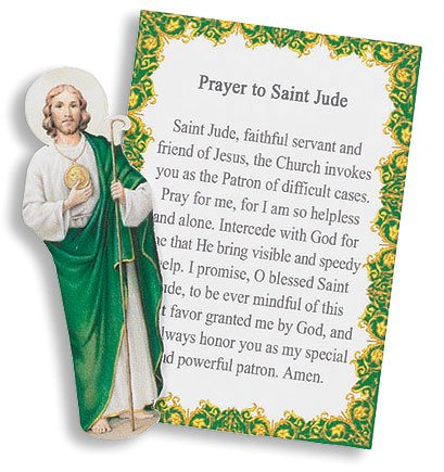St Jude Patron of Lost Causes Desperate Cases Mini Pocket Portable Prayer to Saint W Image