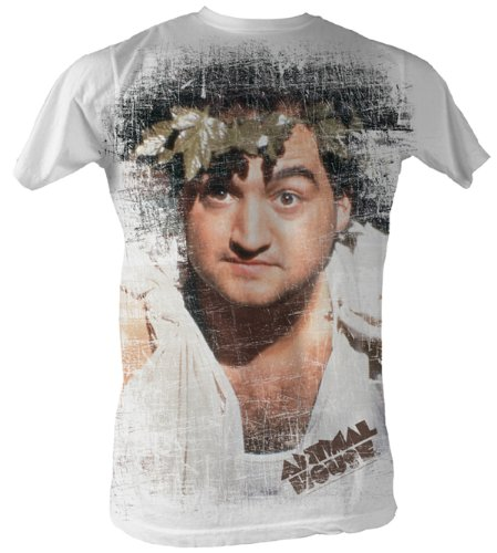 [Animal House T-Shirt - Toga Adult White Sublimation Tee Shirt, Small] (Animal House College Costumes Tshirt)