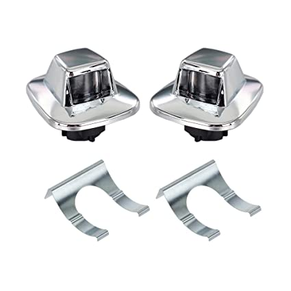 Amazon Com Hercoo License Plate Lights Lamp Lens Chrome Housing