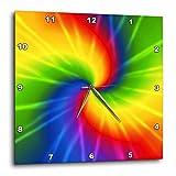 Cheap 3dRose dpp_123363_2 Rainbow Tie Dye Colorful Art Wall Clock, 13 by 13-Inch