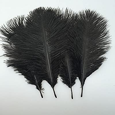 Sowder 20pcs Natural 10-12inch(25-30cm) Ostrich Feathers Plume for Wedding Centerpieces Home Decoration