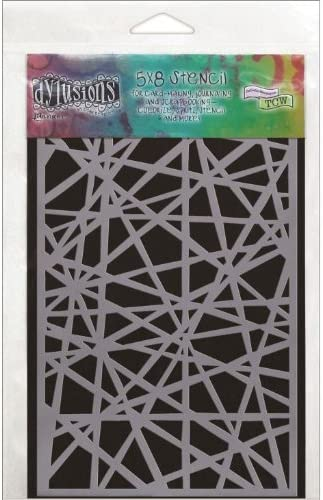 5 by 8-Inch Ranger DYS-40675 Dyan Reaveleys Dylusions Stencils Shattered