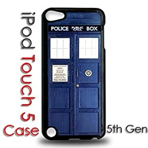 IPod 5 Touch Black Plastic Case - Dr Who Tardis Police Call Box Phone Booth