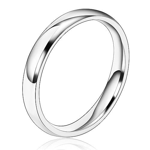 Daesar Joyería Ancho 3mm Acero Inoxidable Anillo Ring ...