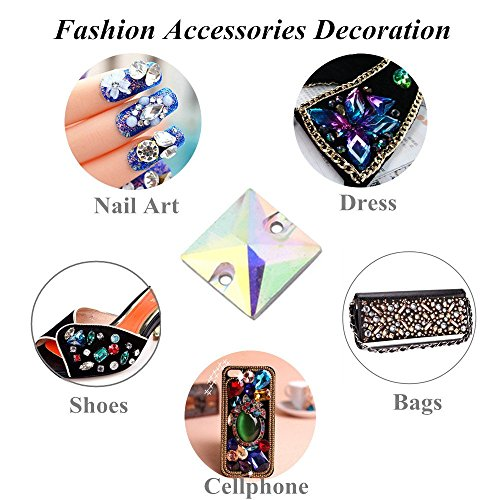 Craft ZJchao Crystal Color Horse Hole Button Nail Art Clothing 4 Style Shiny 2 200Pcs Style Ab Color Accessories Sewing For Eye Ab Decorations Ab Crystal Resin Color Flatback With Dress Clear rqrWa6tTA