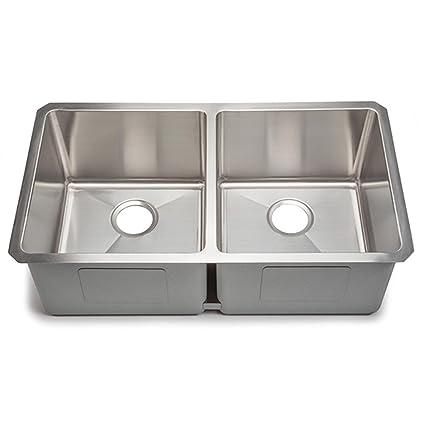 Hahn Small Radius Extra Large Equal Double Bowl Sink Amazoncom