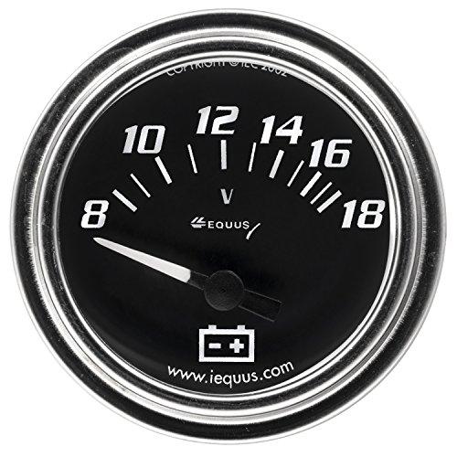 "Equus 7268 2"" Voltmeter, Chrome with Black Dial"