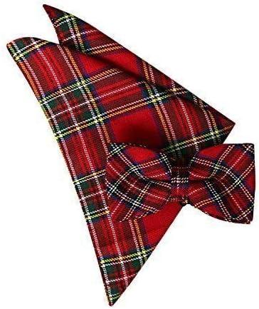 School Girl Burns Night Tartan Unisex Fancy Dress Pink Tartan Tie Braces Bow Tie
