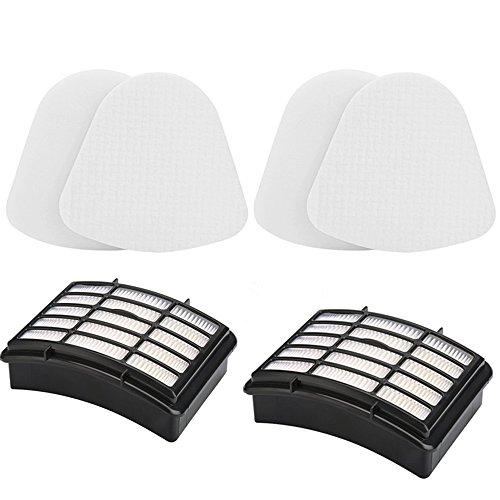 2 Hepa Filter   2 Foam Flet Filter Kit For Shark Navigator Life Away Xff350 Xhf350 Nv350 Nv351 Nv352 Nv355 Nv356 Nv356e Nv357 Nv360 Nv370 Nvlft199 Uv440 Nv350a Nv350e