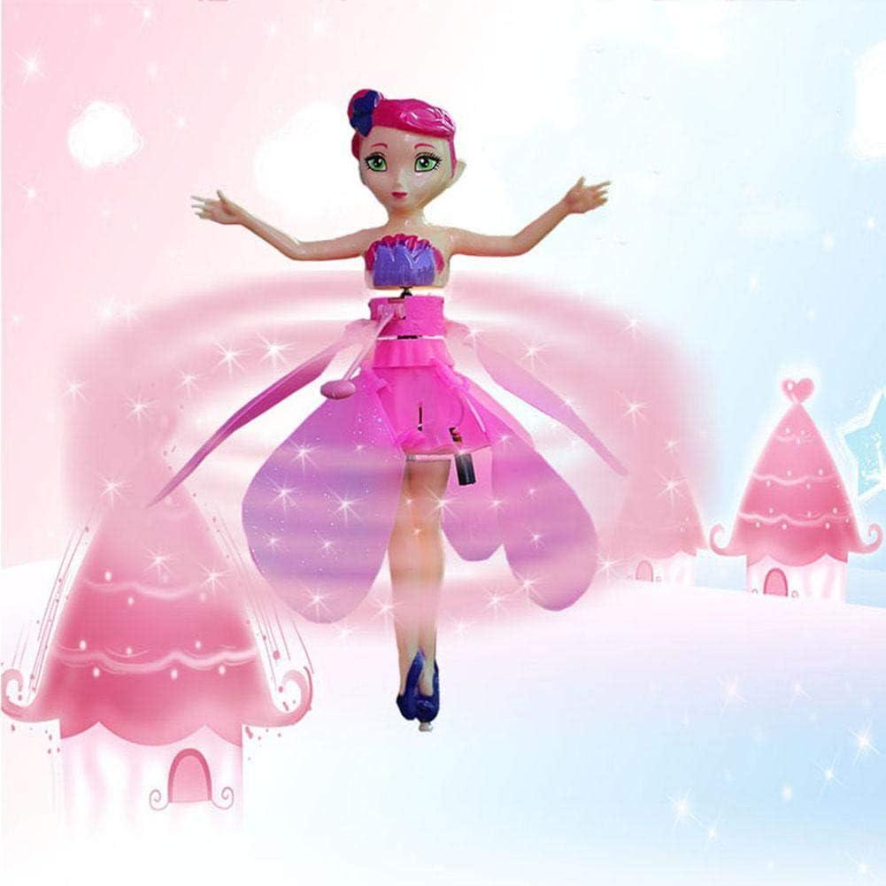 Fliegende Prinzessin Puppe Mit Lichtern Induktionssteuerung RC Hubschrauber Kinder Spielzeug Ballett M/ädchen Fliegende Prinzessin Spielset Kinder Elektronisches Spielzeug