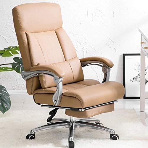 Barstolar Xiuyun möbelserier stora betyg svart läder verkställande svängbar ergonomisk kontorsstol med extra bred stol