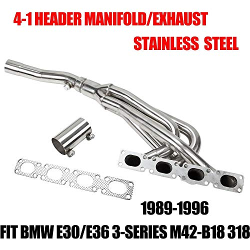 - FITS 1991-1996 BMW 318ti 318i Z3 1.8L 1.9L DOHC Exhaust Manifold Header Stainless Performance