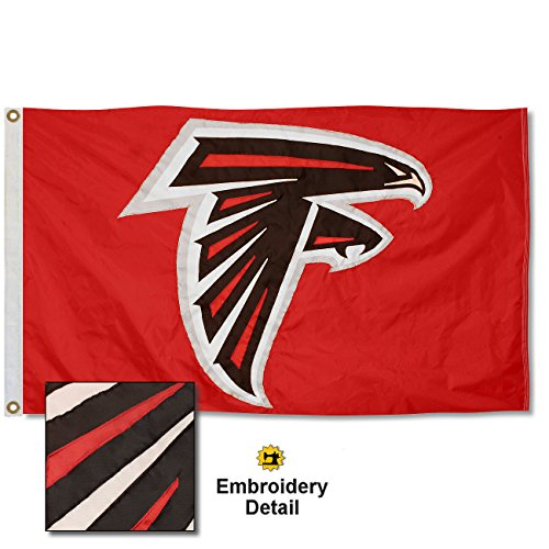 Atlanta Falcons Embroidered Nylon Flag