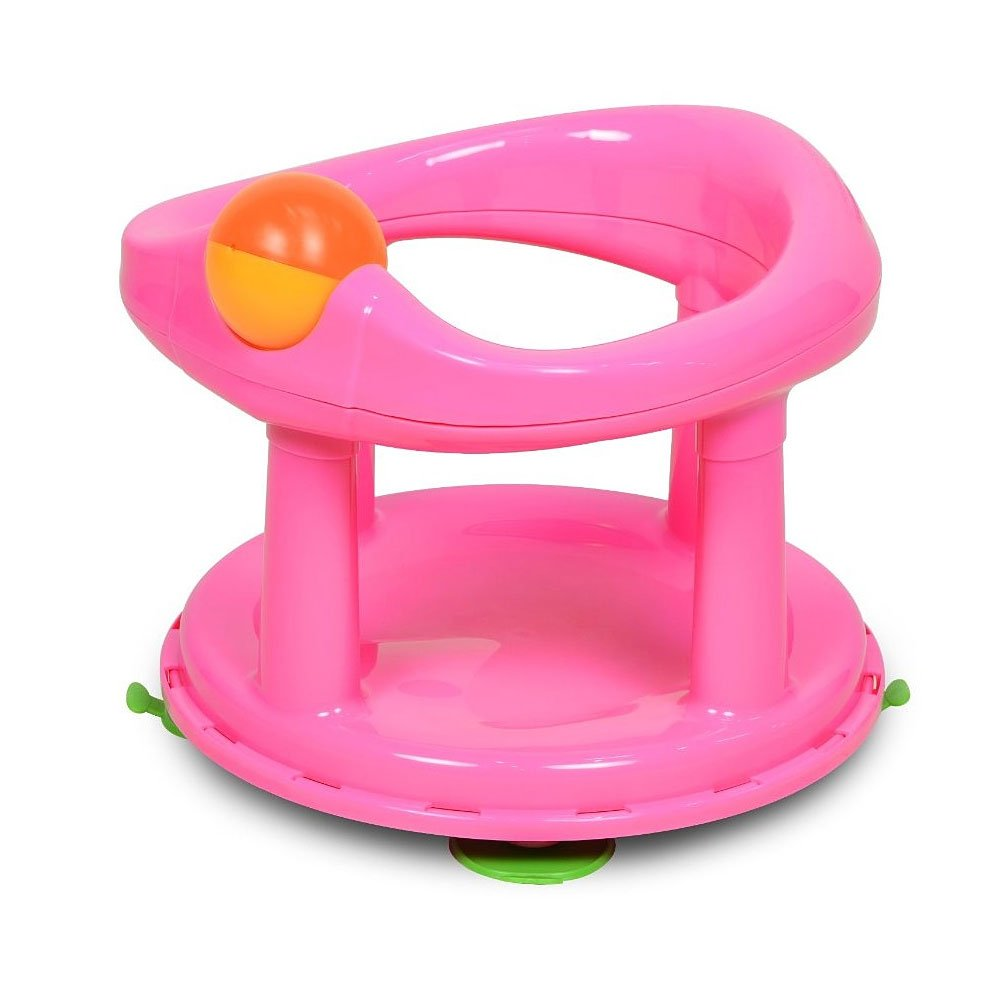 Baby Newborn Infant Water Tub Bath Support Pad Seat Safety 1st Swivel (Pink) buyonlineforbaby