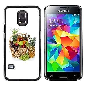 Smartphone Rígido Protección única Imagen Carcasa Funda Tapa Skin Case Para Samsung Galaxy S5 Mini, SM-G800, NOT S5 REGULAR! Fruit Macro Beautiful Fruits / STRONG